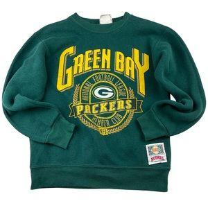 Vintage Kids Medium Sweatshirt Made in USA NFL Green Bay Packers by Nutmeg 1990s